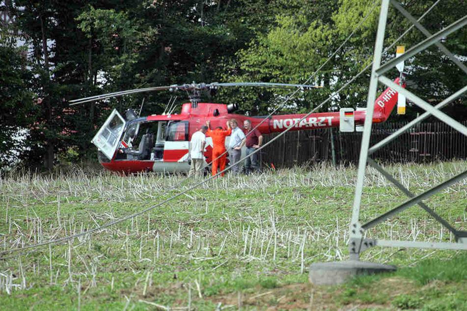 Nicht jeder Einsatz verlief problemlos: Im Juni 2006 streifte der Helikopter eine Stromleitung.