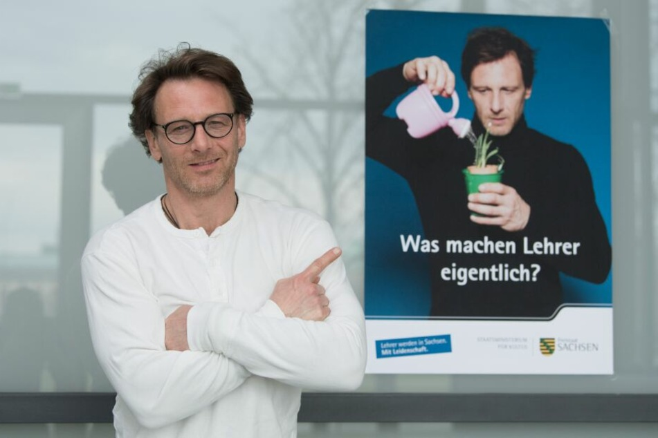 Hendrik Duryn (51) wirbt für Lehrernachwuchs.