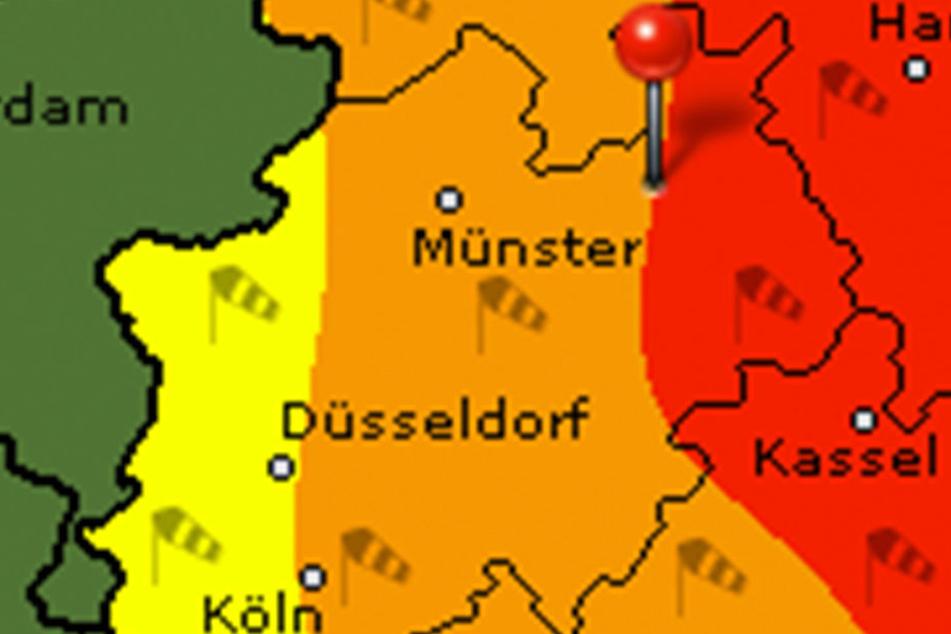 Der Deutsche Wetter Dienst warnt vor starken Sturmböen.