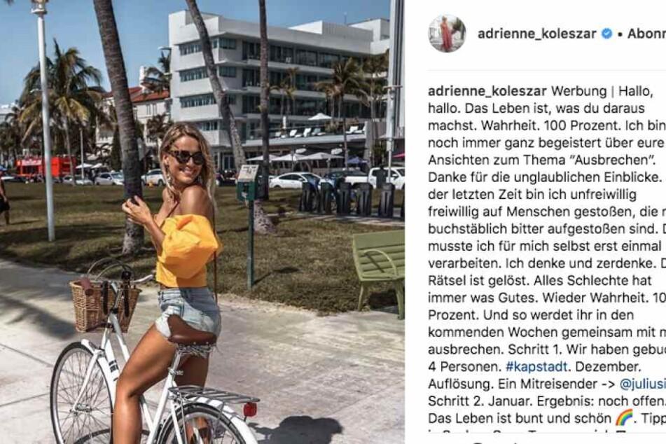 Adrienne verrät mit diesem Post kleine Details zur Zukunft.