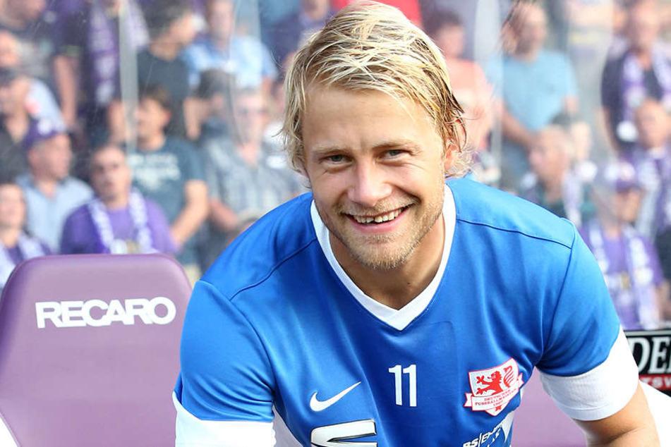 Jan Hochscheidt, spielte bereits von 2008 bis 2013 für Erzgebirge Aue.