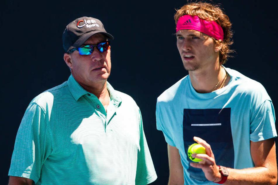 Gehen jetzt getrennte Wege: Ivan Lendl (links) und Alexander Zverev.
