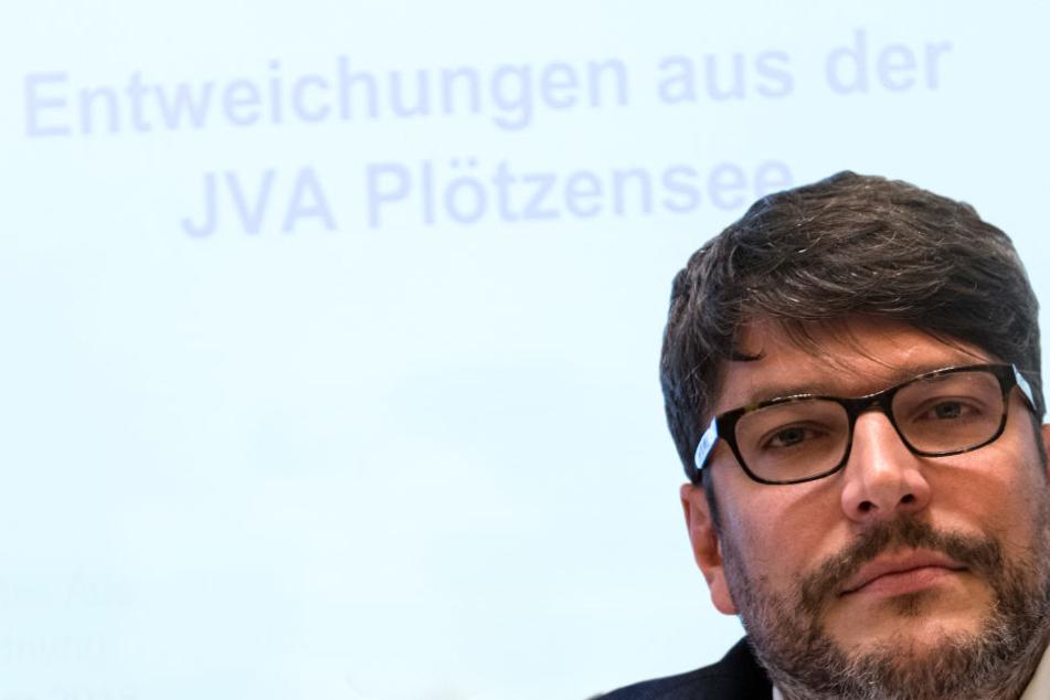 Berlins Justizsenator Dirk Behrendt (Bündnis 90/Die Grünen) steht seit den Ausbrüchen der Häftlinge in der Kritik.