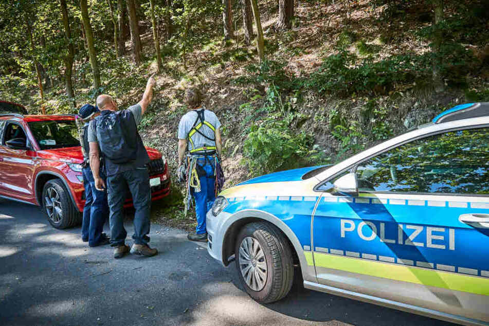 Auch die Polizei war vor Ort.