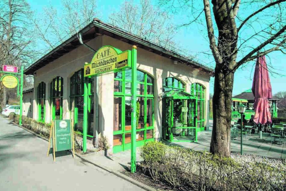Das Café Milchhäuschen am Schlossteich ist ein beliebtes Ausflugsziel.