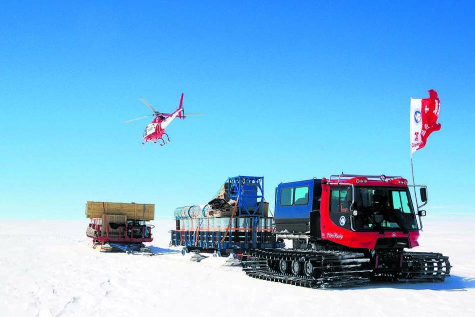 Riesenschlitten aus dem Vogtland hilft bald Russen in der Antarktis