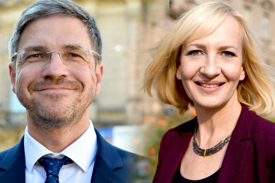 Mike Schubert (SPD) und Martina Trauth wollen das Oberbürgermeisteramt in Potsdam.