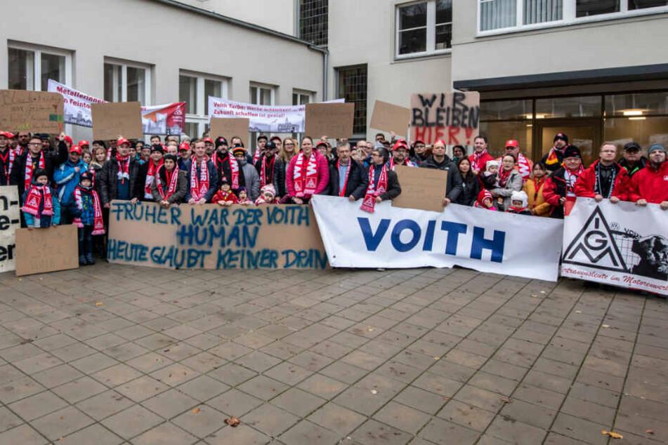 Krisen-Treffen in Chemnitz: Voith-Mitarbeiter kämpfen um ihre Jobs