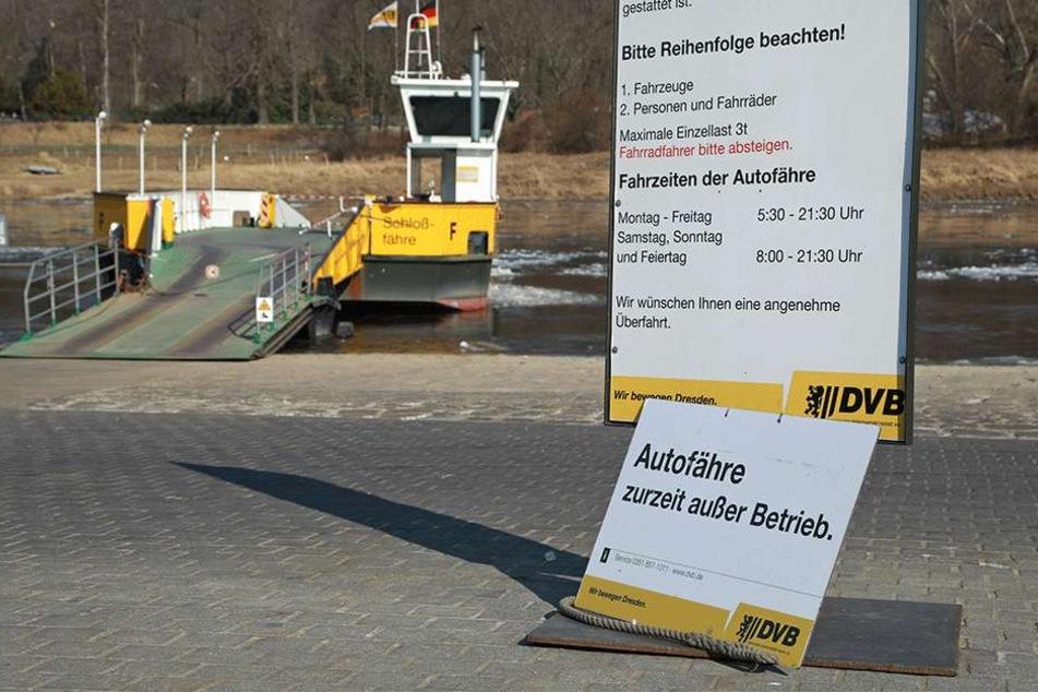 Autofahrer können die Fähre in Pillnitz nicht nutzen.