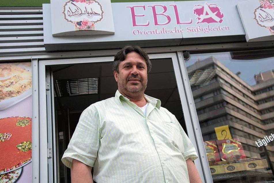"""""""Wer Syrien kennt, hat keine Angst in Chemnitz"""": Süßwarenhändler Emad Al Khlidy (50)."""