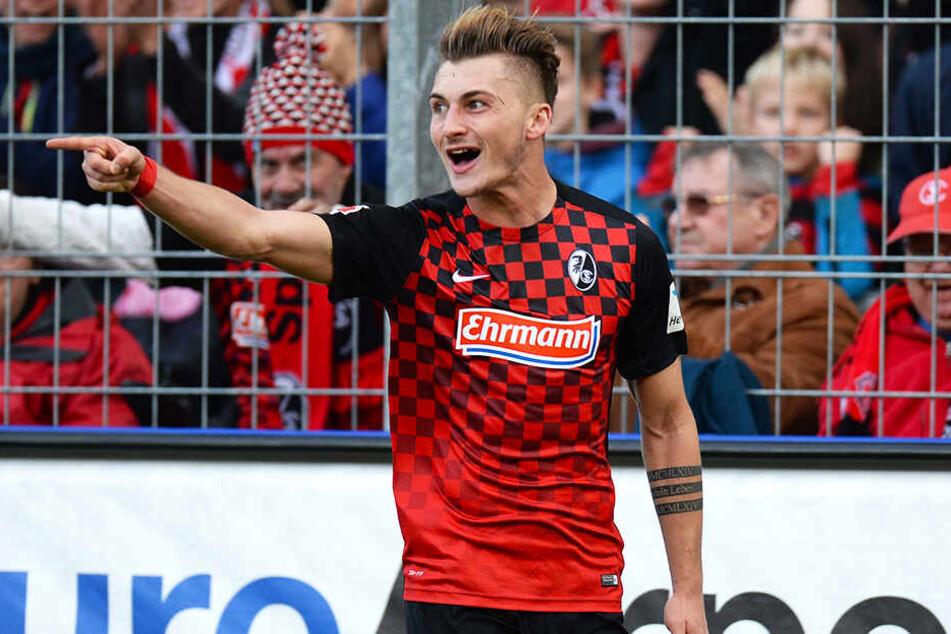 Maximilian Philipp reifte beim SC Freiburg unter Trainer Christian Streich zu einem guten Bundesliga-Stürmer heran.