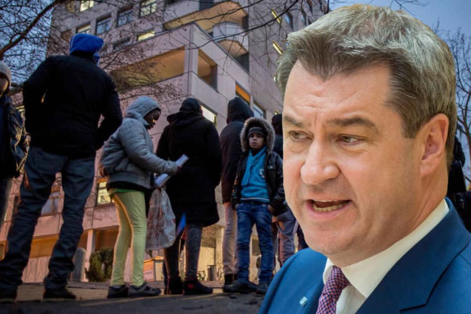 Markus Söder denkt wegen steigender Flüchtlingszahlen über Zurückweisung nach.