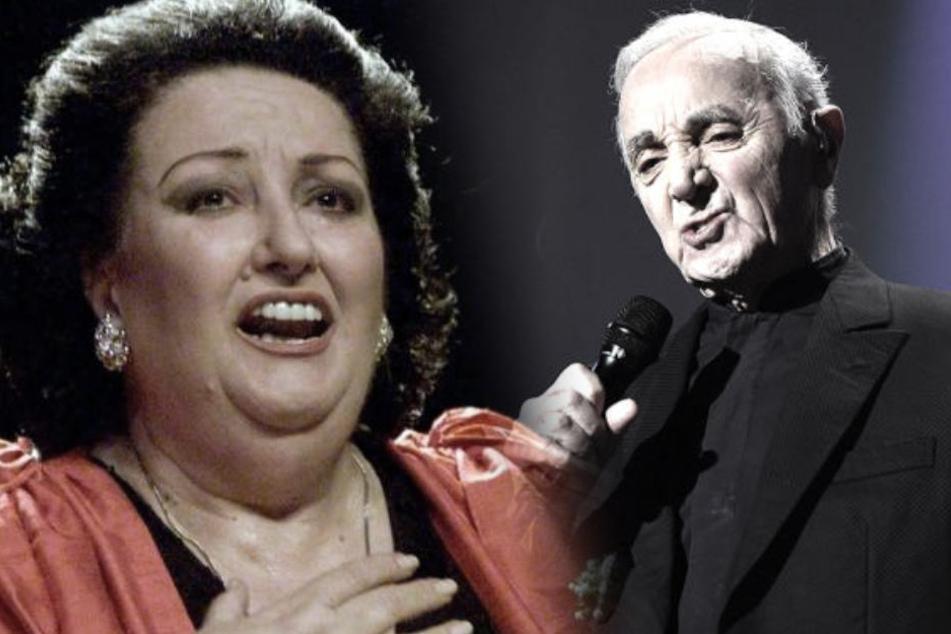 Montserrat Caballé und Charles Aznavour.