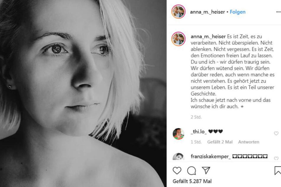 Anna Heiser (29) ist nach der Fehlgeburt in Trauer.