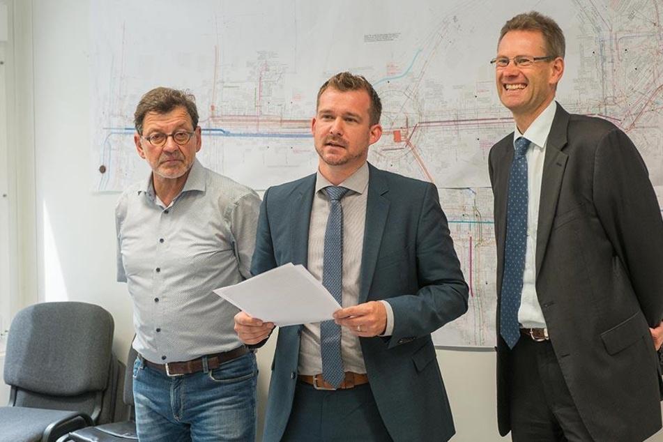 Ist fachlich für die Pläne der Stadt verantwortlich: Baubürgermeister Raoul Schmidt-Lamontain (40, Grüne, Mi.).