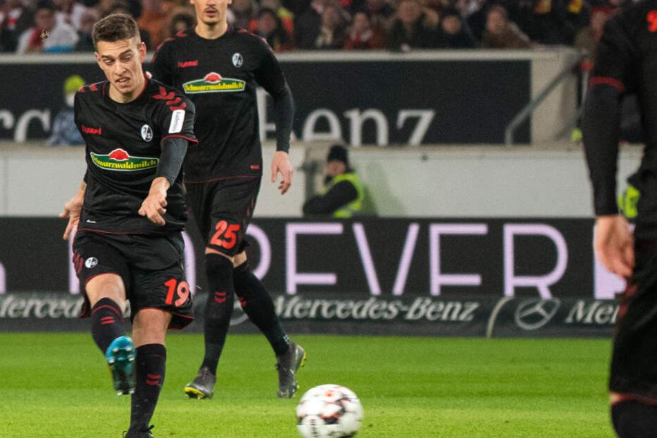 Schießt das 1:0 für den SC Freiburg in der vierten Minute: Janik Haberer.