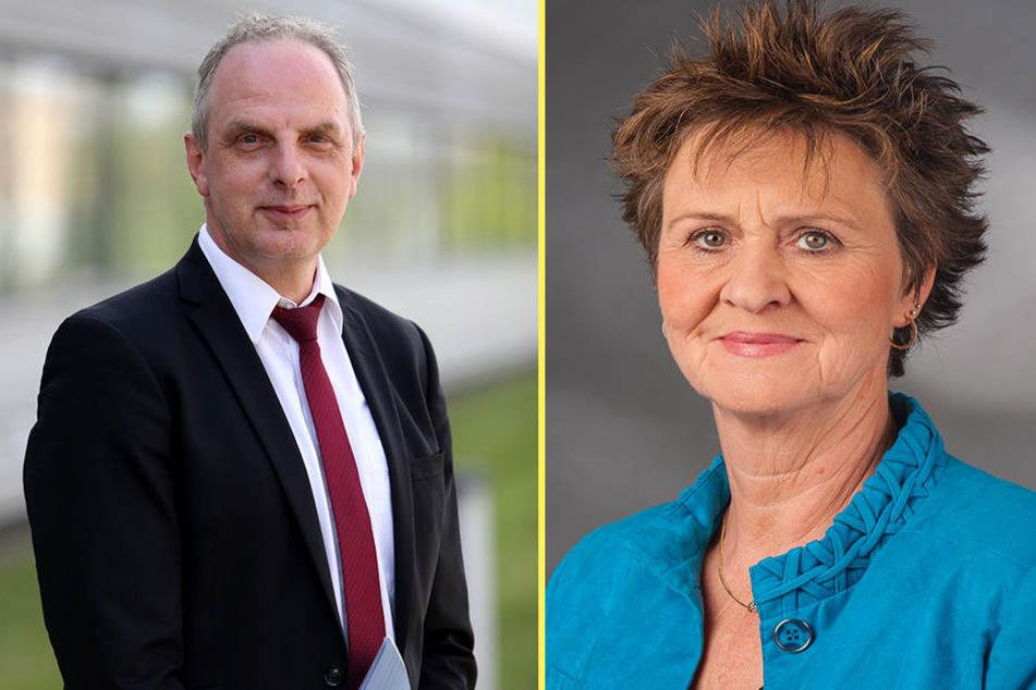Detlef Müller (SPD) freut sich über seinen Sitz im Verkehrsausschuss. Die Zwickauer Abgeordnete Sabine Zimmer (Linke) ist Vorsitzende des Familienausschusses.
