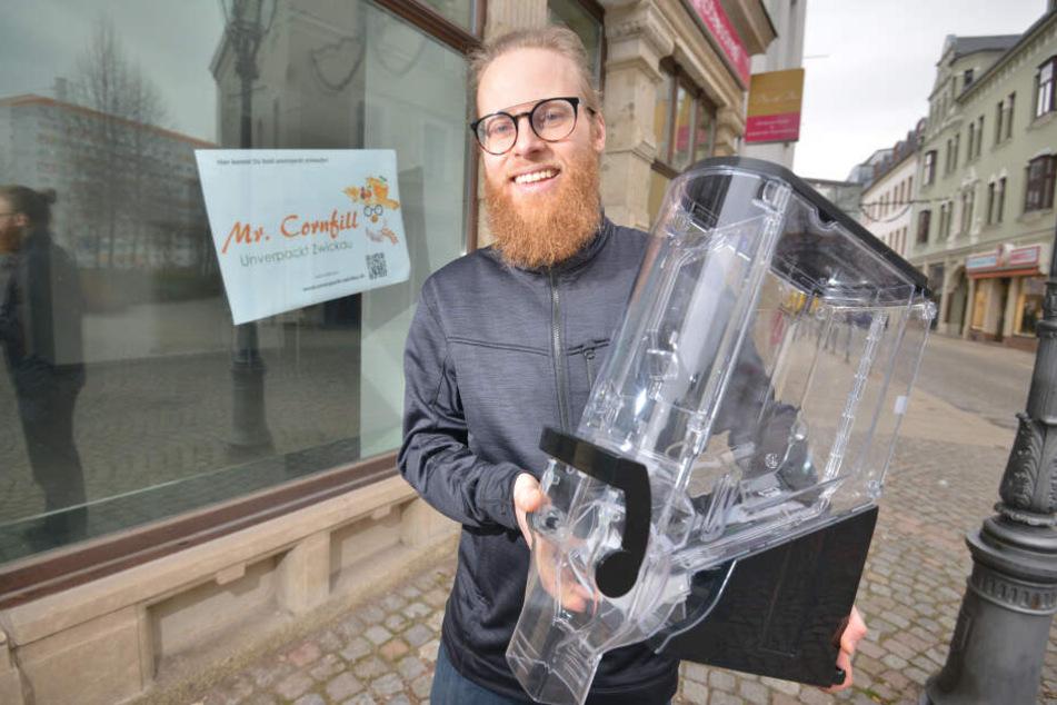 Michael Karl (35) will Anfang März in Zwickau einen Unverpackt-Laden in der Inneren Schneeberger Straße eröffnen.