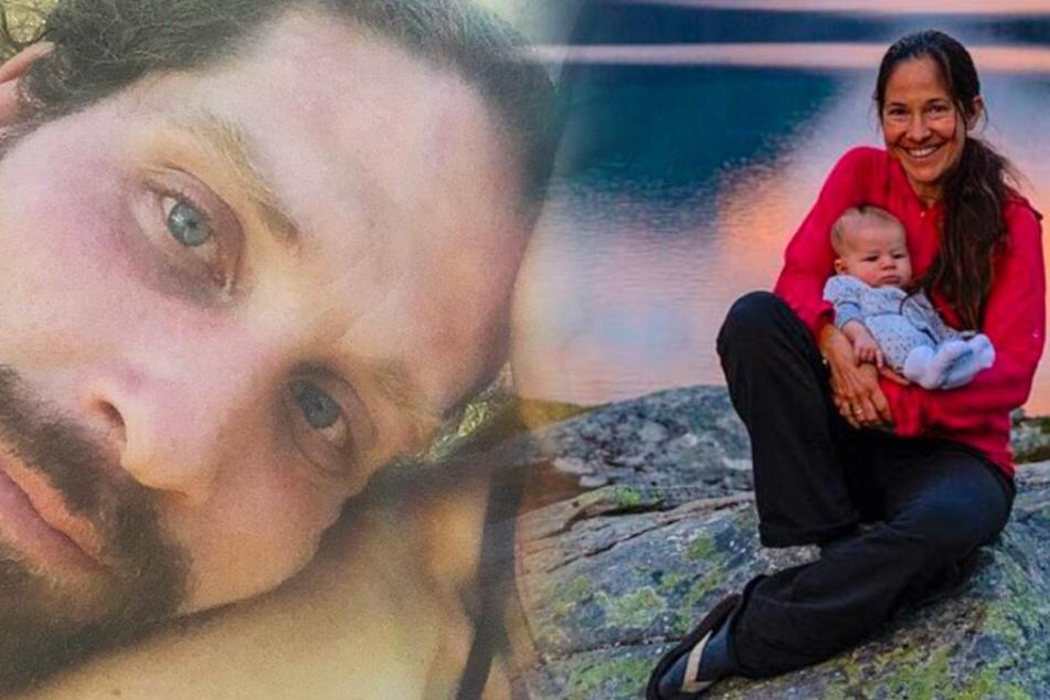 Fotomontage: Trotz der vielen Reisen setzen Ulla (Re.) und Basti Lohmann ihren Sohn keinerlei ernsthafter Gefahren aus.