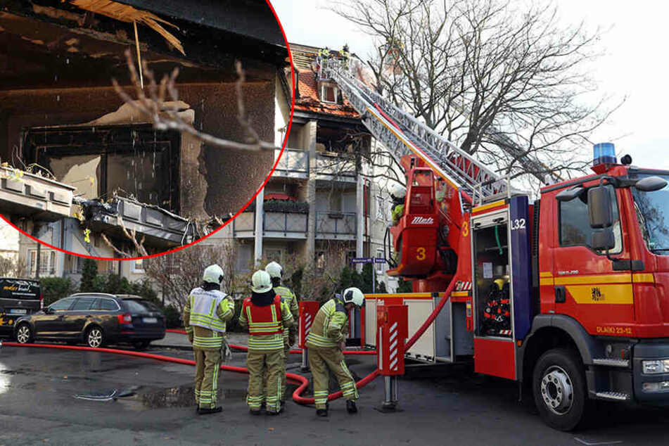 Mieter soll mit Benzin hantiert haben: Balkon geht in Flammen auf