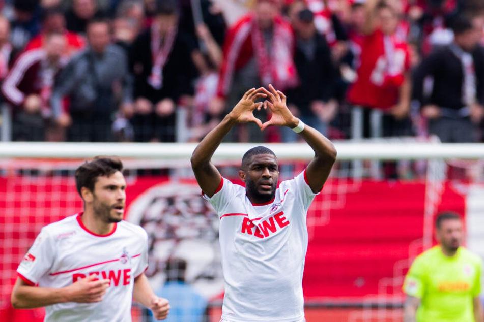 Der 1. FC Köln muss in Magdeburg auf Edeljoker Anthony Modeste (31) verzichten.