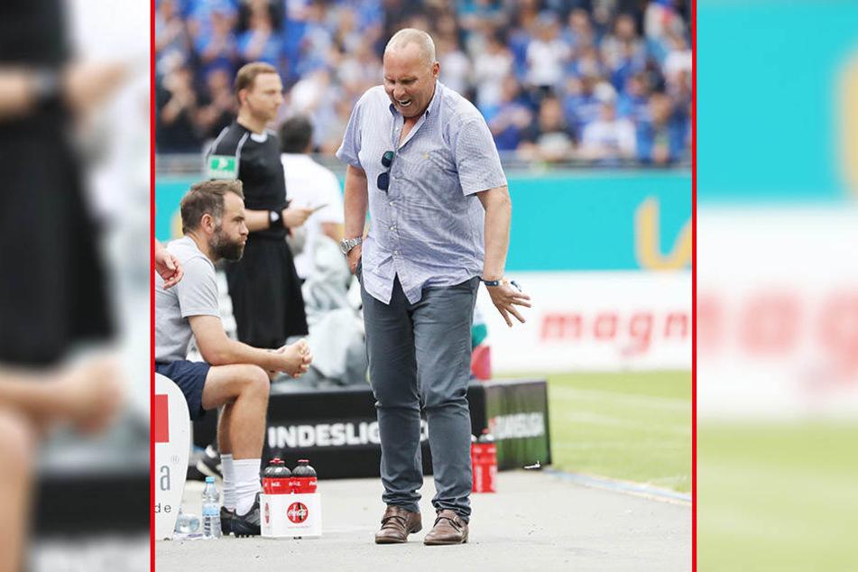 """FCE-Präsident Helge Leonhardt war vor Wut außer sich. """"Man sollte mal die Konten der Schiedsrichter überprüfen"""", sagte er dem MDR."""