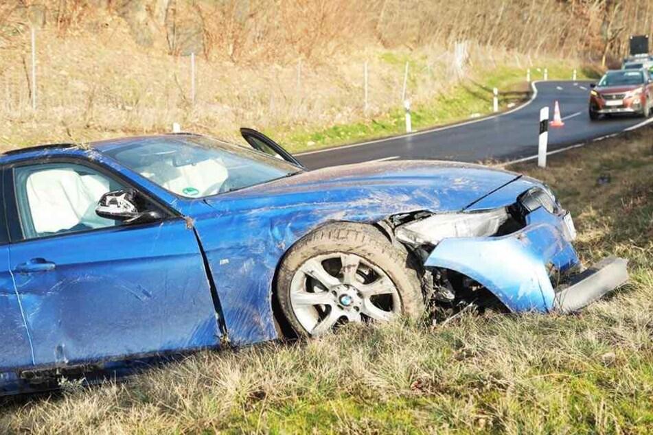 An der Anschlussstelle Dresden-Hellerau hat es gekracht.
