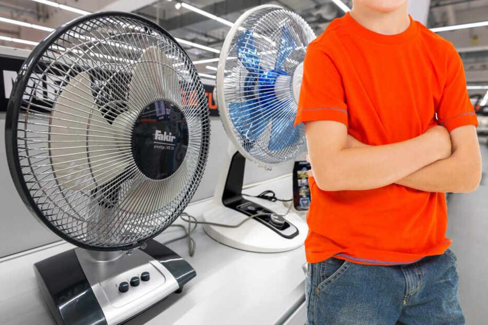 Fotomontage: Der Neunjährige hielt sich nach Ladenschluss noch in dem Elektromarkt auf (Symbolbild)...