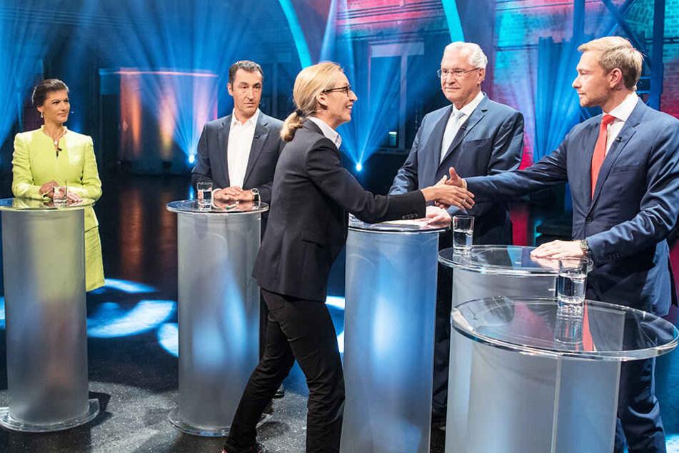 Bei dem Fünfkampf ging es wesentlich lebhafter zu als bei Duell Merkel gegen Schulz.