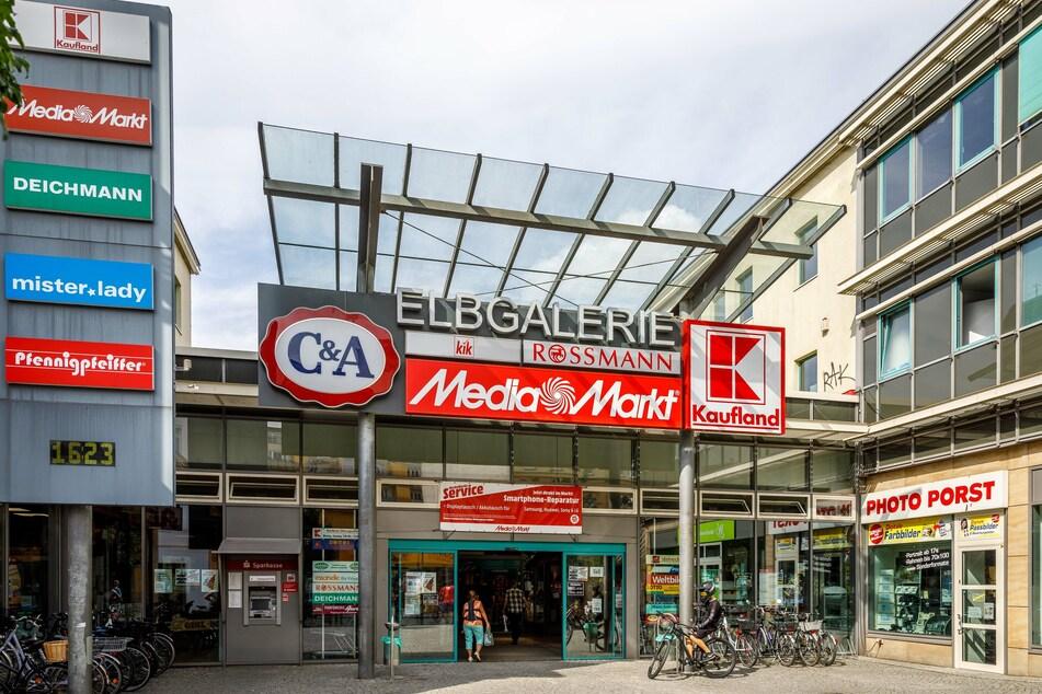 In diesem Einkaufszentrum in Riesa war der Dieb immer wieder aktiv.