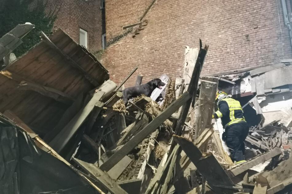 """Und es machte """"Rumms"""": Unbewohntes Haus stürzt mitten in der Nacht ein"""