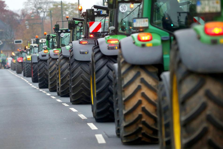 Die Landwirte haben große Demos angekündigt.