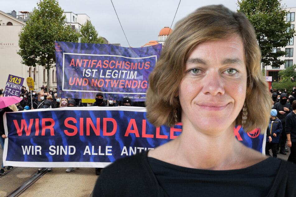 """Leipzig: Nach """"LinX""""-Demo in Leipzig: Anmelderin Juliane Nagel in der Kritik"""