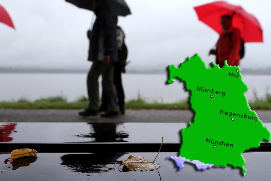 Der Oktober startet in Bayern mit Regen und Sonne, aber vor allem mit Wolken!