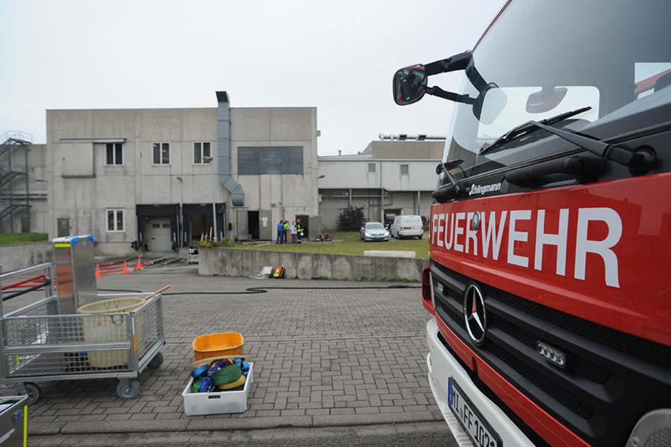 Mehrere Feuerwehrfahrzeuge mussten heute zum Fruchthof in Hille.
