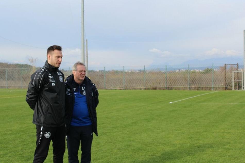 Co. Ronny Surma und Cheftrainer Klaus Lisiewicz testen heute nicht gegen Aalen.