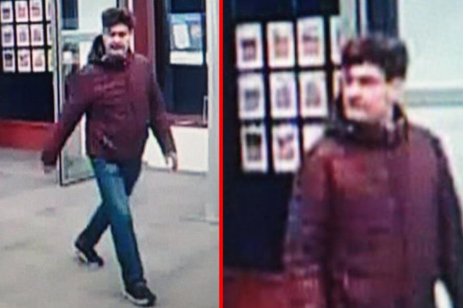 Eine Videokamera zeichnete diesen Mann in einer Bankfiliale in Herrsching auf: Wer ihn erkennt, soll sich bei der Polizei melden.