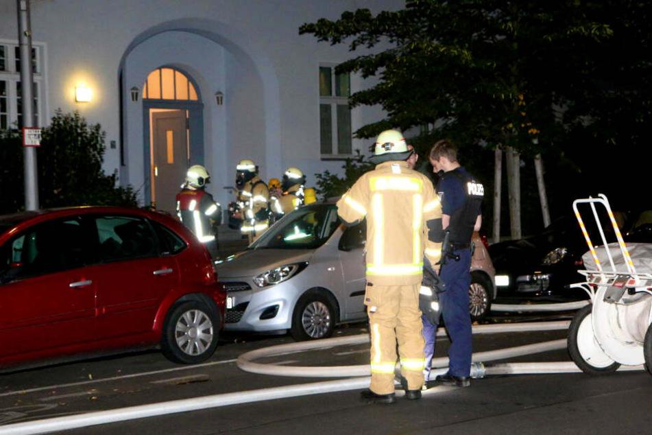 Ein Feuer ist in einem Keller in Berlin-Halensee ausgebrochen.
