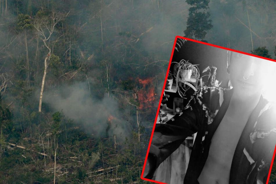 Ob die Strategie aufgeht? Mit nackter Haut möchte Fabian Kahl auf die Brände im Amazonas aufmerksam machen.