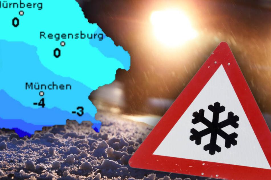 Schnee und Glätte! So wird das winterliche Wetter in Bayern