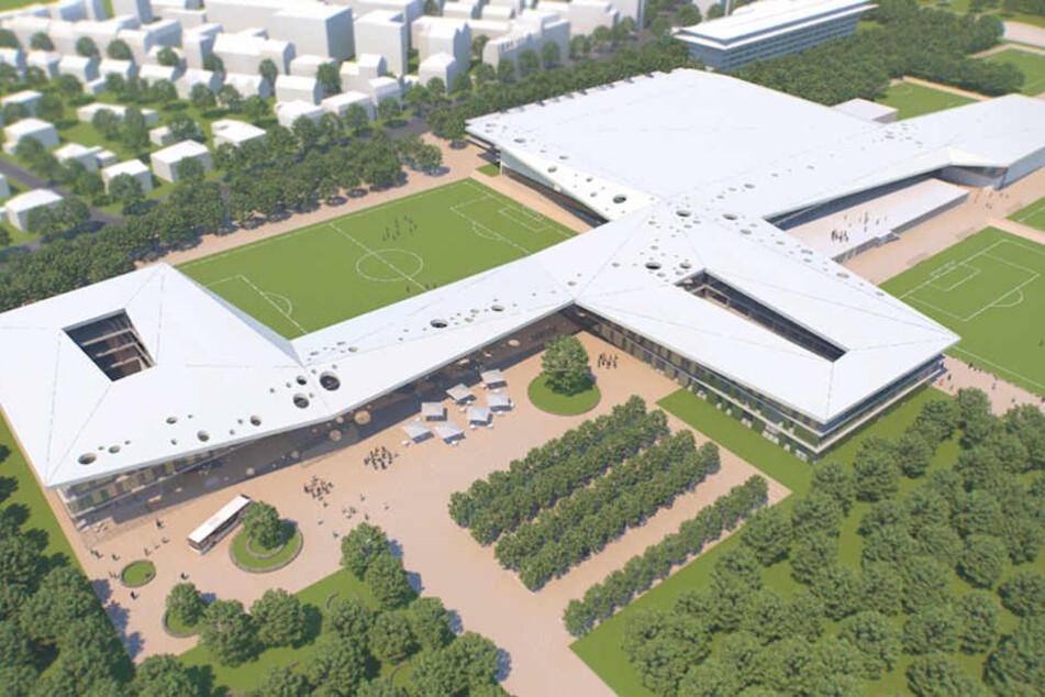 Die Computersimulation zeigt, wie das DFB-Leistungszentrum aussehen soll.