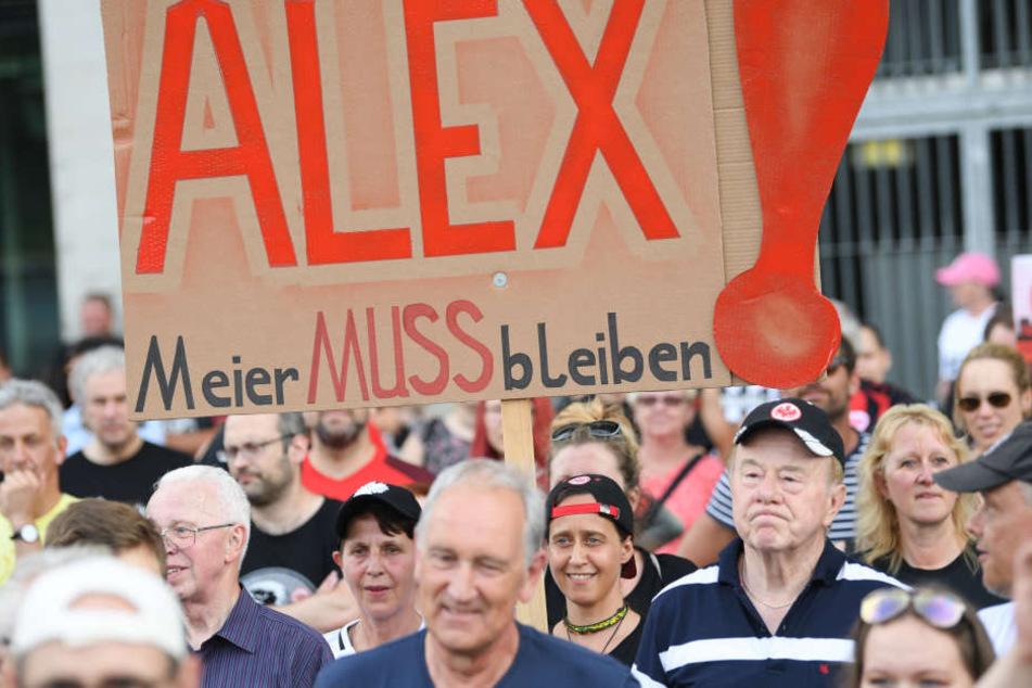 Die Fans von Eintracht Frankfurt machten sich für einen Verbleib von Alex Meier stark.