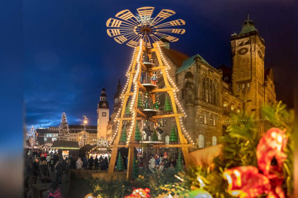 Die Stadt Chemnitz zieht ein erstes positives Fazit zum Weihnachtsmarkt.
