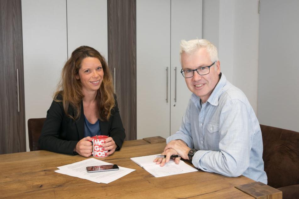 Antje Feiks (38) im Gespräch mit TAG24-Redakteur Torsten Hilscher (49).