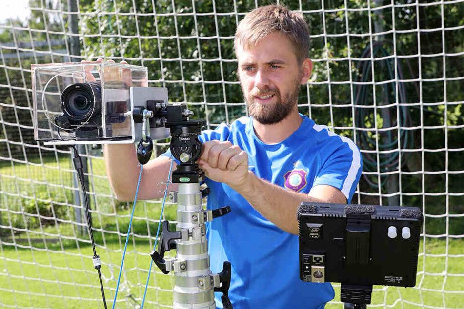 Der Videoexperte des FCE: Phillip Alsleben ist ein wichtiger Bestandteil des Auer Teams.