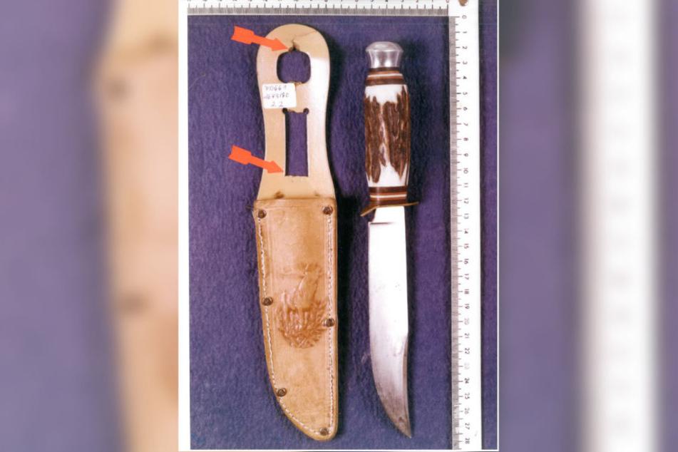 Dieses Messer führte die Ermittler auf die Spur des Verdächtigen.