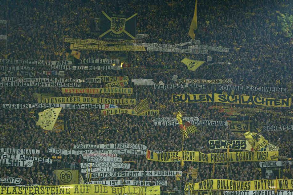 Die Südtribüne vom BVB beim Spiel gegen RB Leipzig.