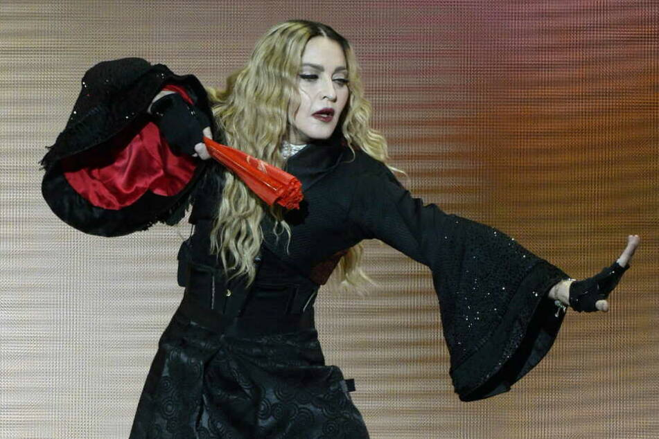 US-Popstar Madonna bei einem Auftritt in Zürich.