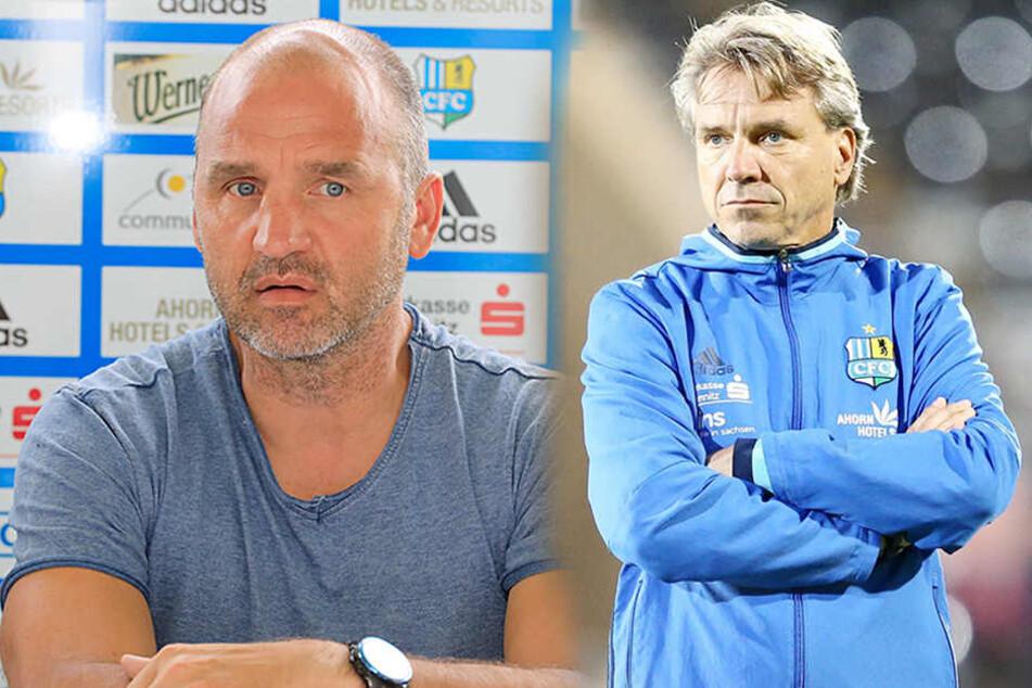 Sportdirektor Steffen Ziffert (l.) hält an der Zusammenarbeit mit Trainer Horst Steffen fest.