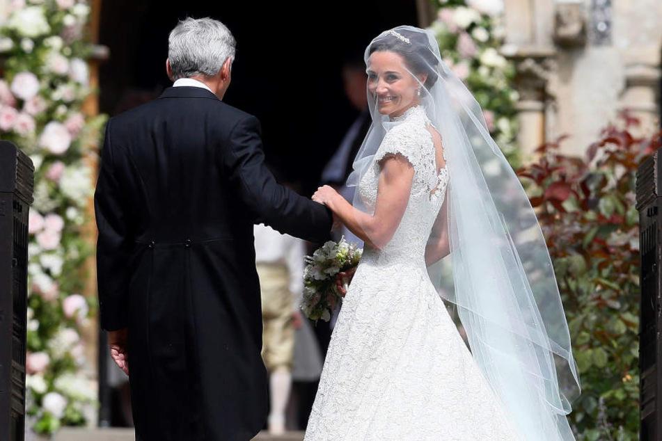 Von wegen Po der Nation! Pippa verhüllt ihr heißestes Teil bei eigener Hochzeit